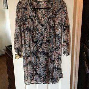 Joie flowered pleated short dress